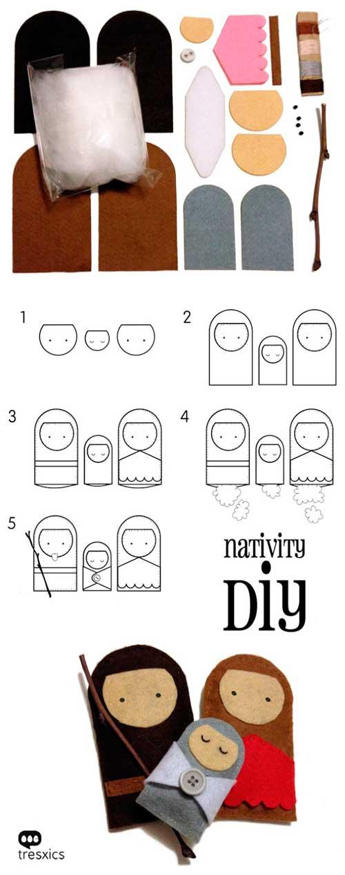 tutorial para hacer pesebre con muñecos