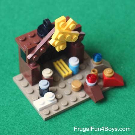 pesebre con piezas de lego diy