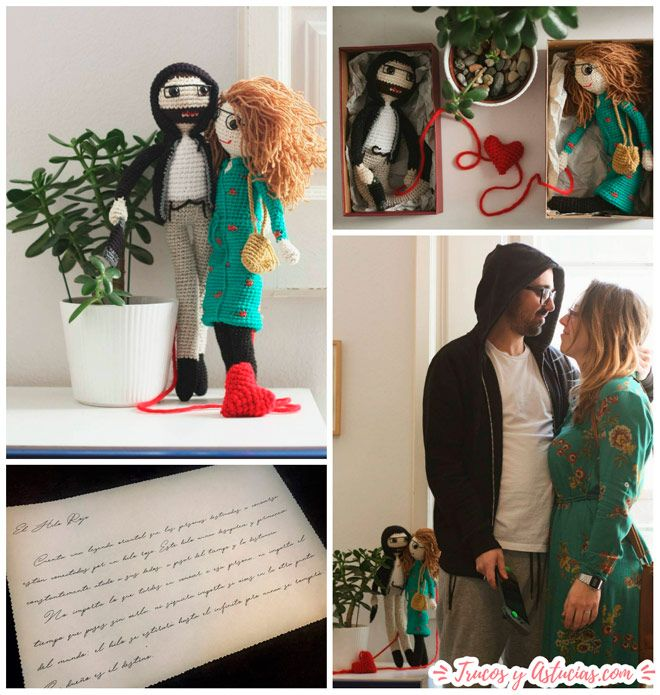 pareja muñecos de crochet ideal para san valentin