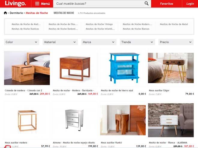 resultados de búsqueda para comprar mesitas de noche online en la web de livingo