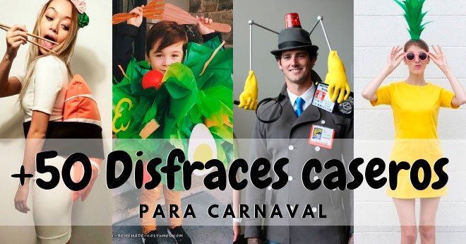 ideas de disfraces para carnaval originales hechos a mano