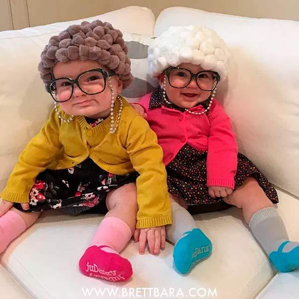 disfraz para bebé de anciano