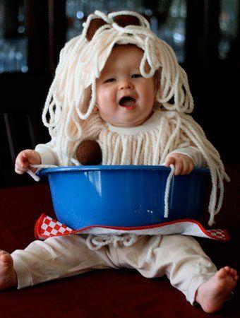 disfraz original para bebé de spaguettis