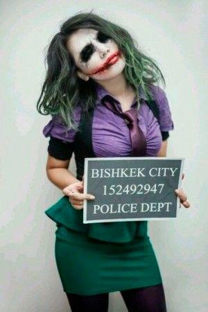 disfraz casero para carnaval del joker de batman para mujer