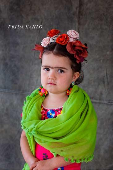 disfraz hecho a mano para niña de frida kahlo