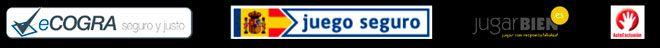 insignias y logos de un casino online español fiable