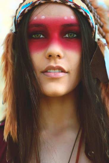 maquillaje para disfraz sexy de carnaval de india