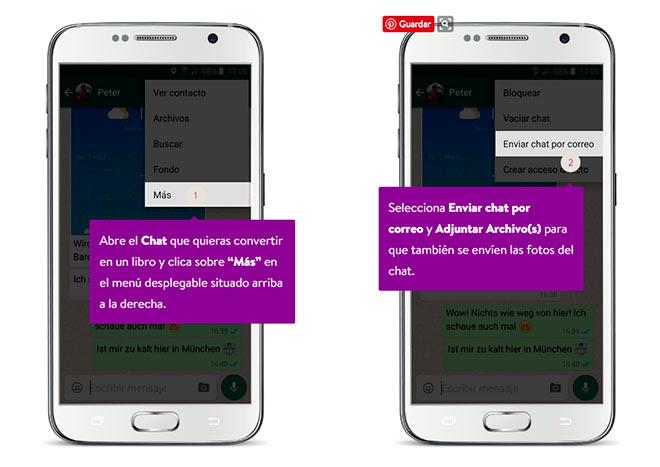 cómo exportar chats de whatsapp