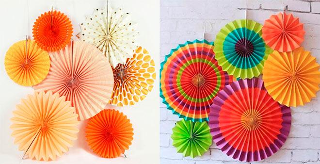 comprar abanico o rosetón de papel para decorar una boda