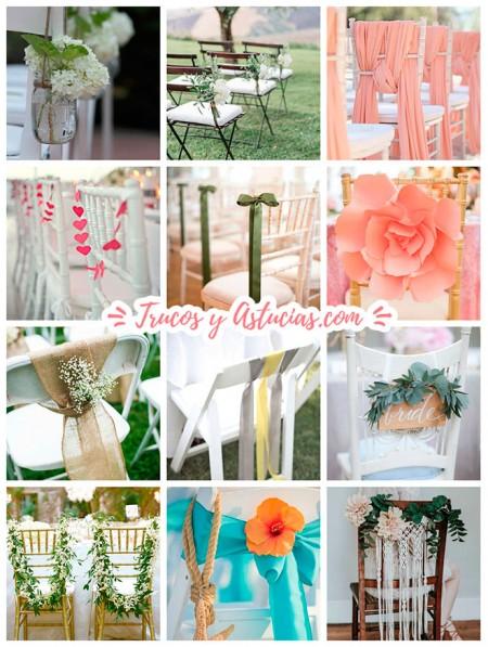 adornos para sillas de casamientos hechos con manualidades diy
