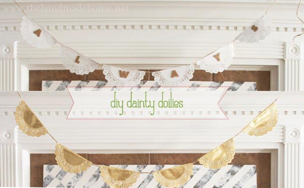 manualidad para hacer guirnaldas con blondas de papel, ideales para una boda vintage