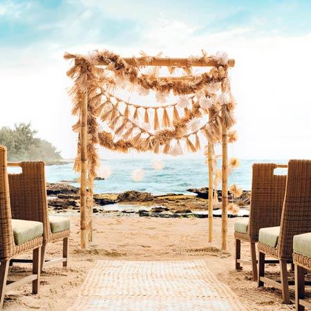 adorno para altar de boda en la playa diy
