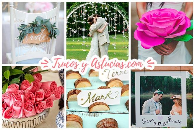 ideas de adornos para un casamiento decorado con diy originales