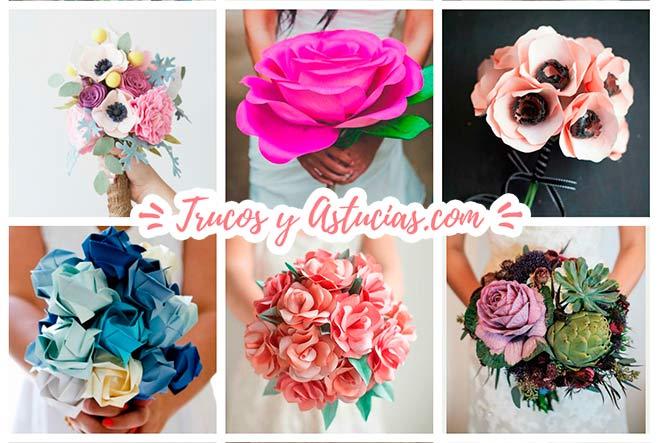 12 originales ramos para novia o para regalar diy - Como hacer un ramo de flores artificiales ...