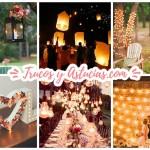 40 Ideas de Iluminación para Decorar una fiesta o Boda DIY