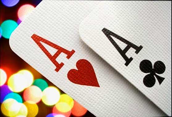 dos cartas ases en la misma mano de black jack