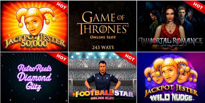 varios juegos de tragaperras online