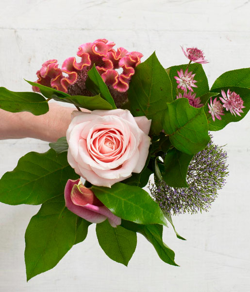 tutorial para hacer un ramo de flores: paso 4