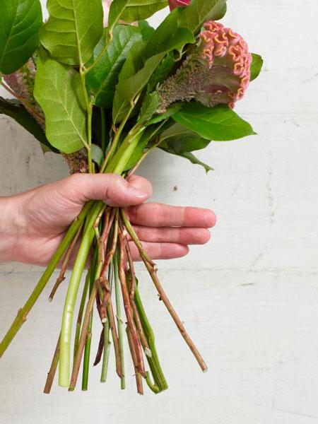 tutorial para hacer un ramo de flores: paso 5