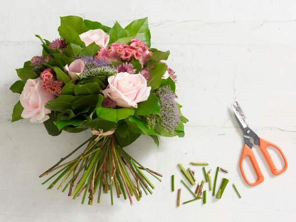 tutorial para hacer un ramo de flores fácil