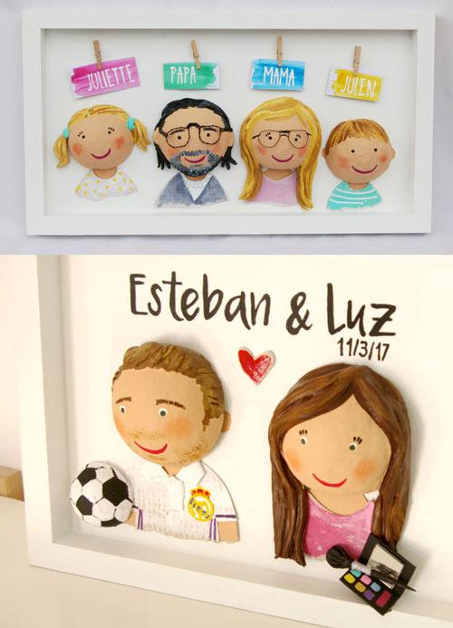 regalo personalizado para navidad: cuadro con muñecos divertidos
