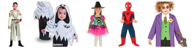algunos de los disfraces para niños más populares para halloween 2017