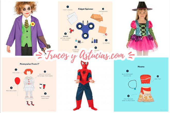 ideas de disfraces infantiles diy o comprados