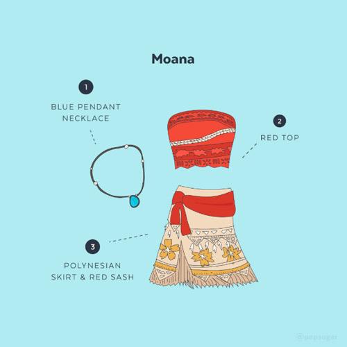 cómo hacer un disfraz casero diy de vaiana de disney