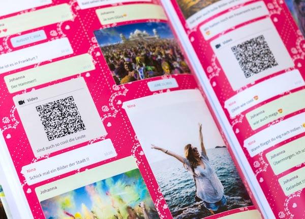 regalo personalizado para navidad: libro whatsapp con vídeos y mensajes de audio