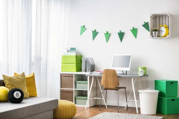 guirnalda de papel para decorar habitación infaantil