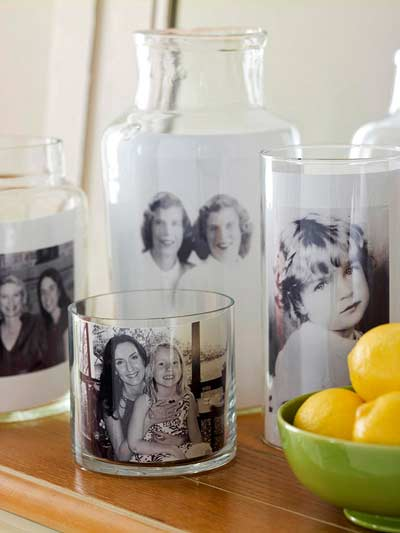 regalo personalizado diy para navidad: fotos en vasos