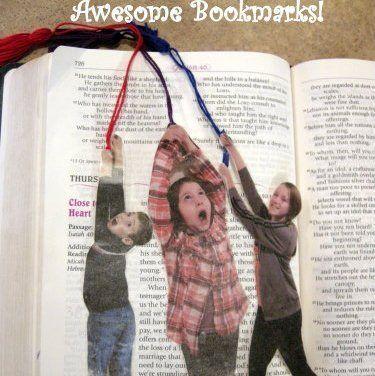 regalo personalizado casero: punto de libro con vuestras fotos