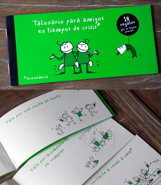 regalo original y personalizado para amigos: talonario con cupones canjeables por favores