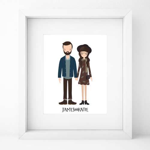 regalo-personalizado-navidad-cuadro-ilustracion-personalizada
