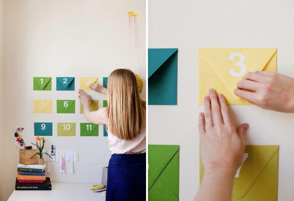 regalo original, casero y personalizado: mensajes en al pared