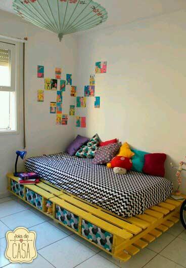 somier de palets para una cama infantil