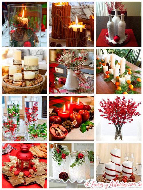 Centros navideños caseros para decorar la mesa en navidad