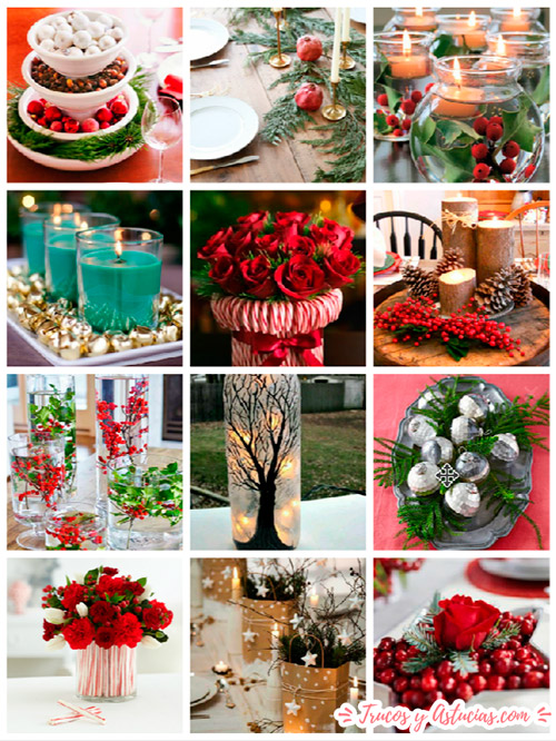 centros de navidad caseros para decorar la mesa