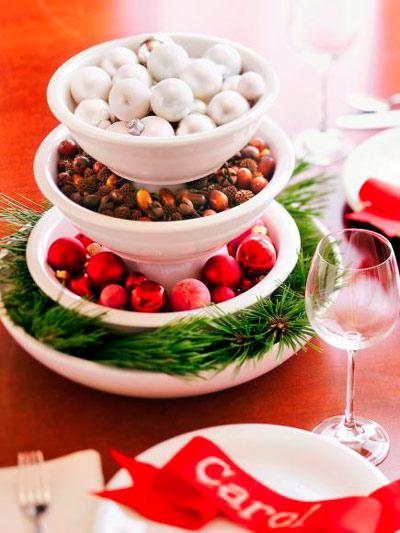centro de navidad hecho con manualidades para decorar