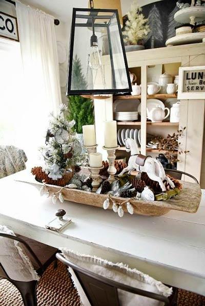 100 centros de navidad caseros para decorar la mesa - Objetos decorativos para salon ...