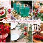 28 centros de mesa floreros y macetas para hacer con manualidades trucos y astucias - Centros navidad caseros ...