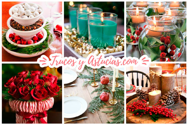 100 centros de navidad caseros para decorar la mesa trucos y astucias - Centros navidad caseros ...