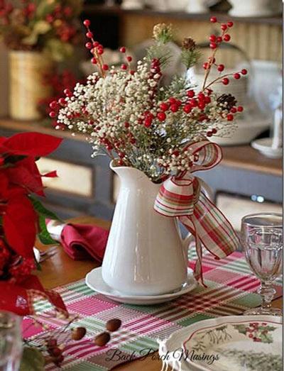 flores silvestres para decorar la mesa durante las fiestas