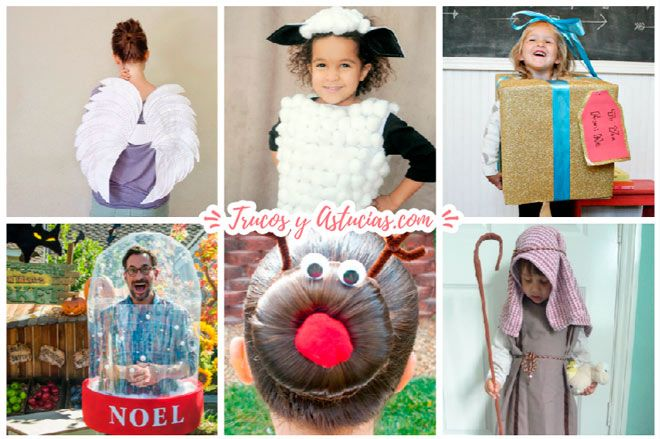 disfraces para navidad caseros hechos con manualidades