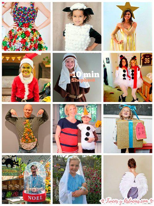 disfraces navideños originales para niño y adulto