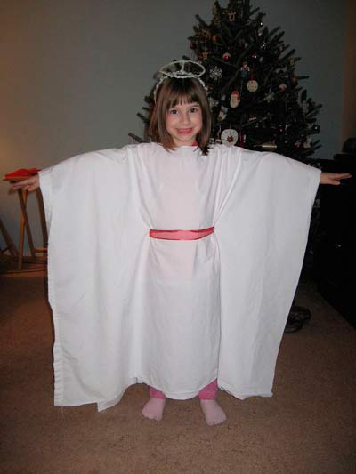 disfraz casero ángel fácil sin coser