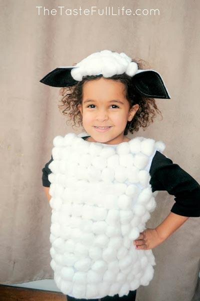disfraz de oveja ideal para navidad hecho con manualidades diy