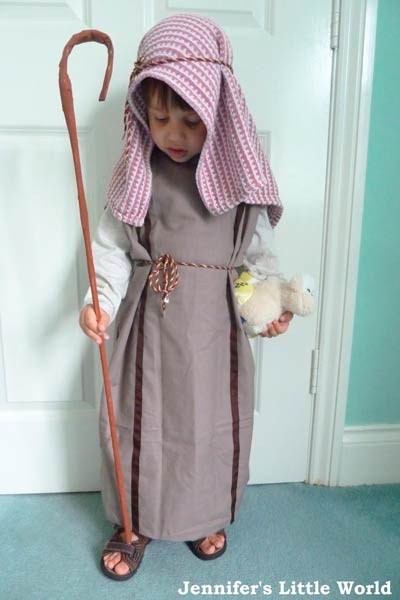 disfraz de pastor para pesebre viviente fácil