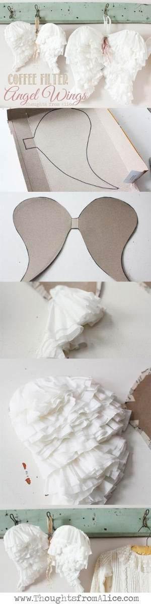 manualidad fácil para hacer alas de ángel para disfraz