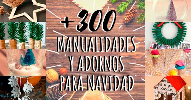 29e39bb7f16 ▷ Más de 300 Manualidades y Adornos para Navidad  2018